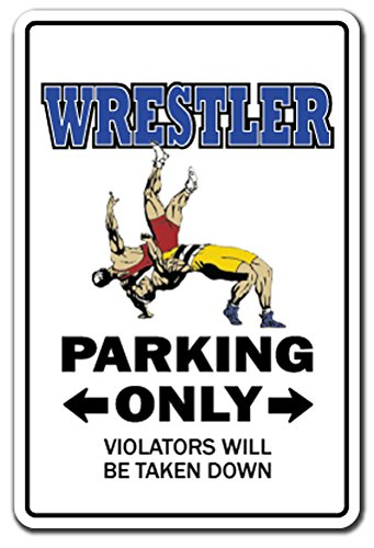WRESTLER Sign wrestle sports athlete coach high school college wrestling | Indoor/Outdoor | 12