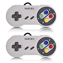 kiwitatá 2 Piece SNES Classic Retro USB Super Nintendo Game Controller Gamepad Joystick for Windows PC/MAC Raspberry Pi SNES/NES Old Games