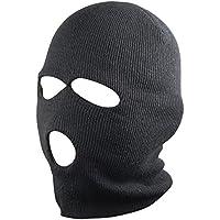 3 Holes Balaclava SAS Style Mask Neck Warmer Black Hat - Ski Paintball Fishing