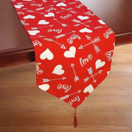 Amazon Com Printed Hearts Valentine S Day Table Runner 13 X 70