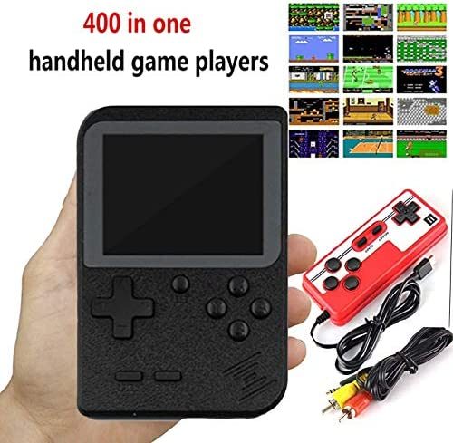 Hot Video-Game 8 Bit Retro Mini Pocket Gameboy Handheld Game Player Built-in 400 Classic Games for Child Nostalgic Player (Black)