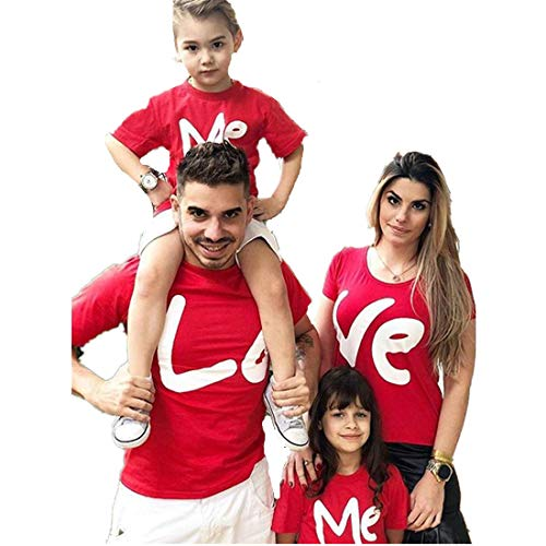 Franterd Daddy Mom & Me Valentine Love Print Parent-Child Blouse Family Matching Clothes -