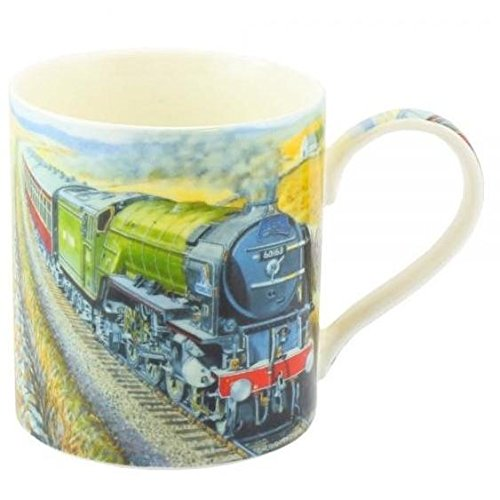 age of steam fine art watercolour china gift mug steam train