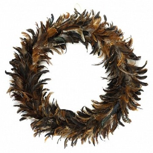 Natural Schlappen Feather Christmas Wreath - 24