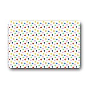 Polka Dot Pattern Entrance Indoor/Outdoor Floor Mat Doormat