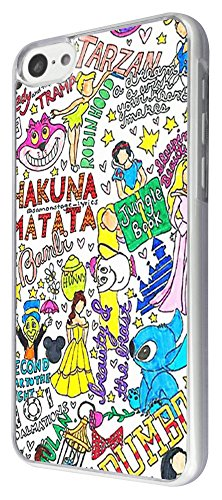 353 - Multi Art Stickerbomb Quote Beauty and the beast Design iphone 5C Coque Fashion Trend Case Coque Protection Cover plastique et métal