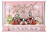 独占販売 限定 雛人形 一秀 コンパクト ひな人形 雛 木目込人形飾り ケース飾り 五人飾り 安土雛 h283-sm-28-3-18