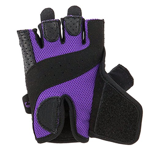 Contraband Pink Label 5137 Womens Padded Weight Lifting Gloves w/Grip-Lock Padding (Pair) - Machine Washable Fingerless Workout Gloves Designed Specifically for Women - Contraband Sports