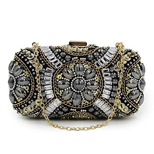 Diamantes Mano Cena Xoxo Bolsos Cuentas Con A De Joyería Elegante Bolso Cosidas AwHYqa64