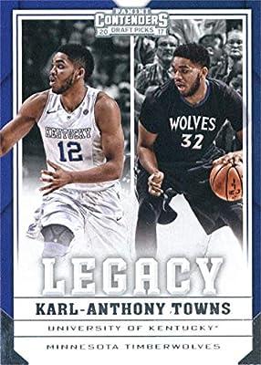 Karl-Anthony Towns Basketball Card (Kentucky Wildcats, Minnesota Timberwolves) 2017 Panini Contenders Legacy Draft Picks insert #19