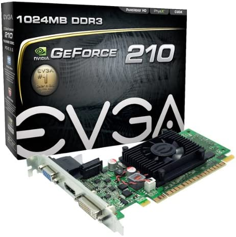 EVGA GeForce 210 1024 MB DDR3 PCI Express 2.0 DVI/HDMI/VGA Graphics Card, 01G-P3-1312-LR