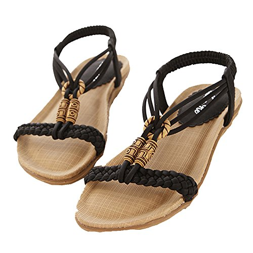 TEERFU - Sandalias de vestir de Material Sintético para mujer negro