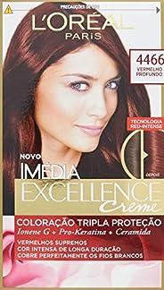 Coloração Imédia Excellence, L'Oréal Paris, 4466 Vermelho Prof