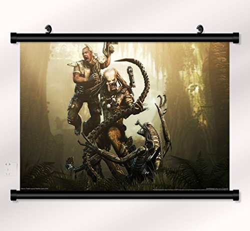 Aliens VS Predator poster with wall scroll 22 inch x 16 inch