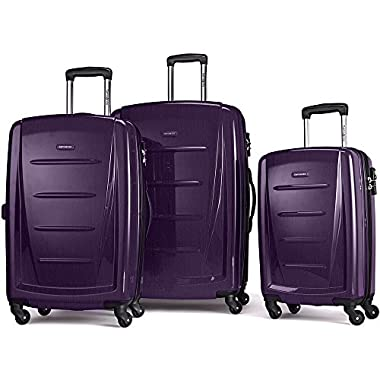 Samsonite Winfield 2 Fashion Hardside 3 Piece Spinner Set, Purple, One Size