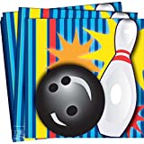 Kitchen & Housewares : Bowling Party Napkins - Pack of 16