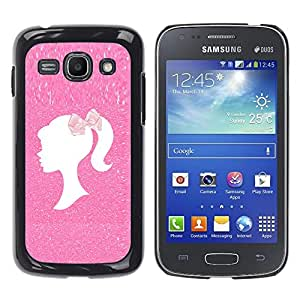Exotic-Star ( Hairdresser Pink Glitter White Clean ) Fundas Cover Cubre Hard Case Cover para Samsung Galaxy Ace 3 III / GT-S7270 / GT-S7275 / GT-S7272
