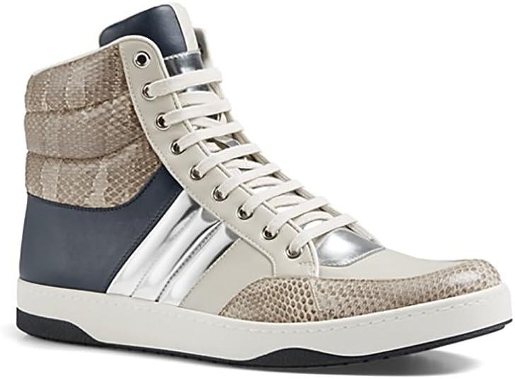 Sneaker, Navy/Beige/Silver 368494 Blue