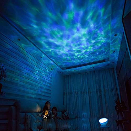 Wall Adapter Included Remote Control Ocean Wave Led