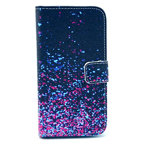 Galaxy S3 Mini Case, Firefish Stylish [Kickstand] [Non Slip] [Card Holder] Premium Comprehensive Protection PU Leather Inner TPU Magnetic Closure Skin for Samsung Galaxy S3 Mini-Starry