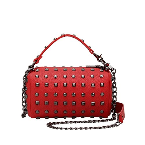 Walcy Pu Leather Leisure Women's Handbag Square Cross-section Rivet Package Hb880091c5