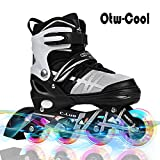 Otw-Cool Adjustable Inline Skates Kids Adults Rollerblades All Wheels Light up, Safe Durable Inline Roller Skates Girls Boys, Men Ladies
