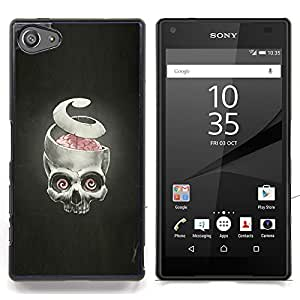 "Qstar Arte & diseño plástico duro Fundas Cover Cubre Hard Case Cover para Sony Xperia Z5 Compact Z5 Mini (Not for Normal Z5) (Puzzles y cráneo - Goth"")"