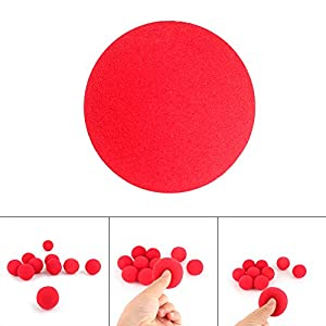 10Pcs Red Sponge Soft Ball Close-Up Magic Street Classical Comedy Trick Props