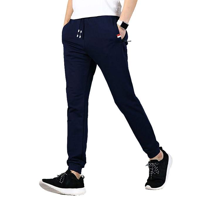 Hombre Cintura Media Pantalones Largos, Moda Pantalón de Chándal ...