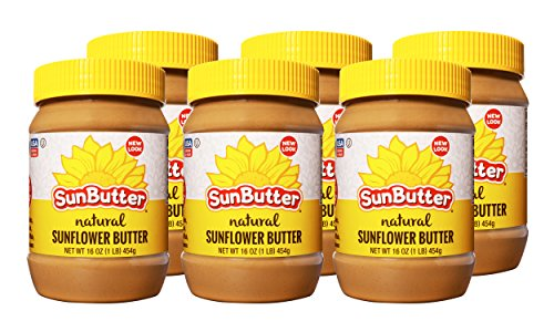 SunButter Sunflower Butter Natural Creamy (6 pack of 16oz Jars)