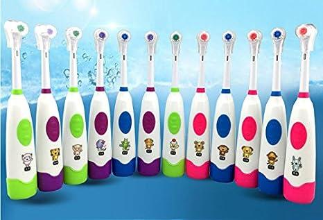 whh niños cepillo de dientes cepillo de dientes eléctrico Rotary bebé bebé cepillo de dientes suave pelo niños dibujos animados cepillo de dientes ...