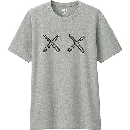 Uniqlo Men's KAWS Collection KAWS Logo Grey T-Shirt