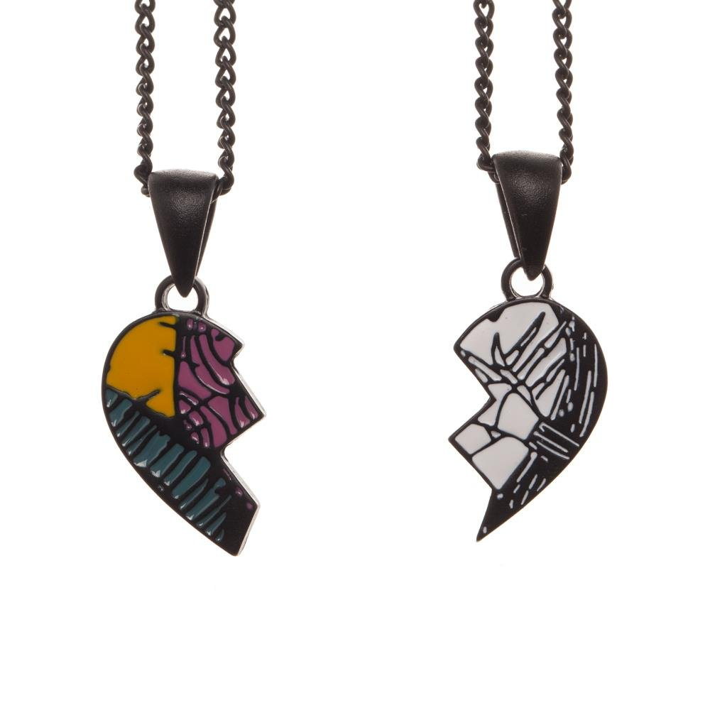 Nightmare Before Christmas His and Hers Necklaces BIOWORLD JS5YNENBC