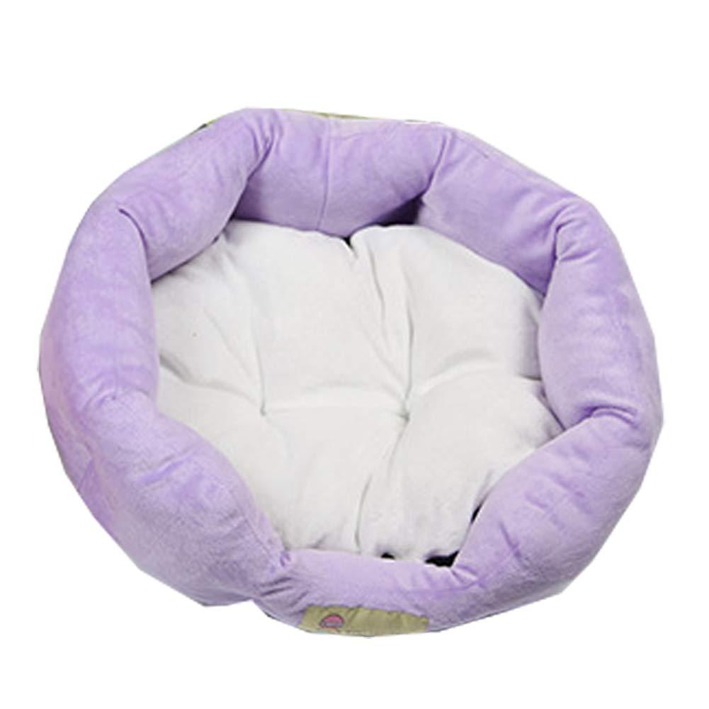 Purple M Purple M XGPT Soft Washable Dog Pet Warm Basket Bed Cushion