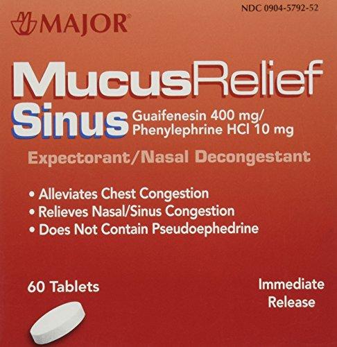 MAJOR Mucus Relief Sinus Congestion Tablets 60 ea ()