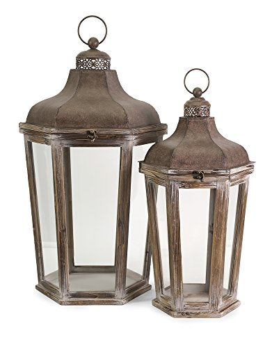IMAX 89020-2 Layla Oversized Lanterns (Set of 2)