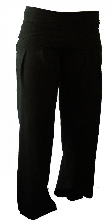 DRAPS Fitnesspant weit Baumwolle Elasthan schwarz - L