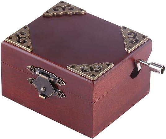 Caja de Música Clásica 8 Nota Caja Musical de Madera con Manivela Wind Up Regalos para Navidad Cumpleaños Día de San Valentín(Edelweiss): Amazon.es: Hogar