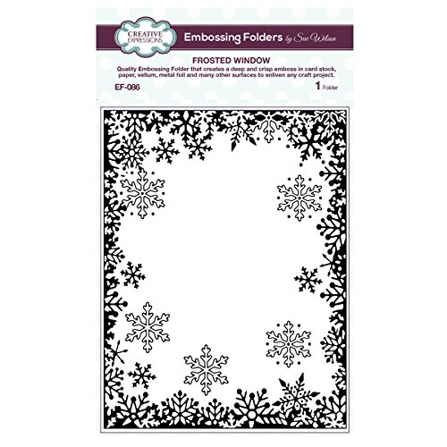 Creative Expressions Sue Wilson EF-086 Embossing Folder 5. 75 x 7. 5 - Frosted Window
