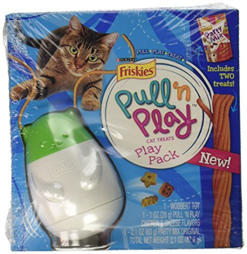 Wobbert Cat Toy Play Pack (Pull 'n Play line) by Friskies