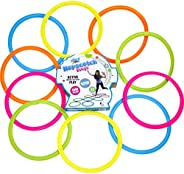 Misco Toys Kid's Hopscotch Rings, Indoor and Outdoor Balancing Game Ring Set, Ages 6+