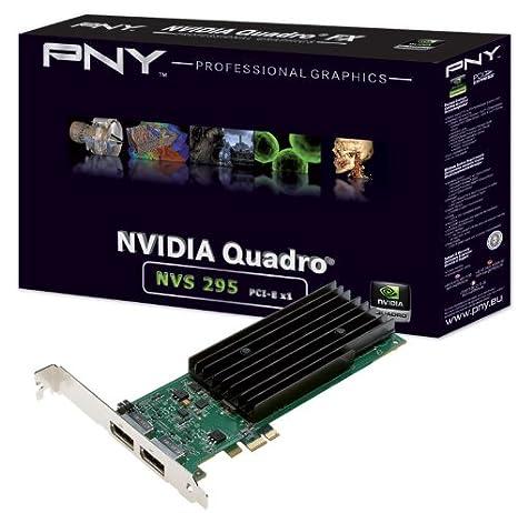 PNY NVIDIA Quadro NVS 295 - Tarjeta gráfica (256 MB): Amazon ...