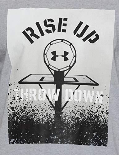 Up Down Manga Hombre De Bball Corta Camiseta Throw Armour Gris Rise 035 Under nIzxYqw