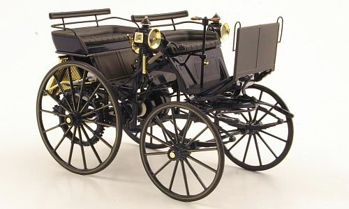 Mercedes Daimler Motorkutsche, dark blue, Model Car, Ready-made, I-Norev 1:18