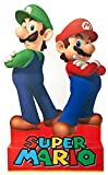 BirthdayExpress Super Mario Party Supplies - Mario & Luigi Life Size Cardboard Standup Combo Kit
