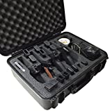 Case Club Waterproof 4 Pistol Case with Accessory Pocket & Silica Gel