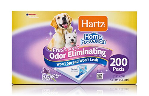 Hartz Home Protection Lavender Scent Odor Eliminating Gel Dog Pads, 21