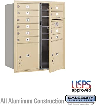 Amazon Com Recessed Mounted 4c Mailbox 37 1 2 H 10 Mb1 Drs 1 Pl4 1 Pl4 5 Sandstone Front Load For Use With Usps Lock Home Improvement