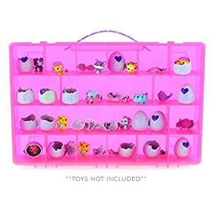 Life Made Better My Egg Crate Storage Organizer compatible the Hatchimals Hatchimal Colleggtibles brands - Durable Carrying Case Mini Eggs, Easter Eggs & Speckled Eggs – Pink