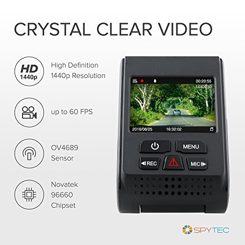 SpyTec A119 Version 2 Car Dash 60 FPS 1440p Camera with GPS Logger Mount G-Sensor Wide Angle Lens and Low Light Recording by Spy Tec (Image #2)